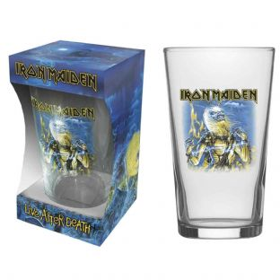 IRON MAIDEN - LIVE AFTER DEATH PINT GLASS (NEW/BOX) (PG011)